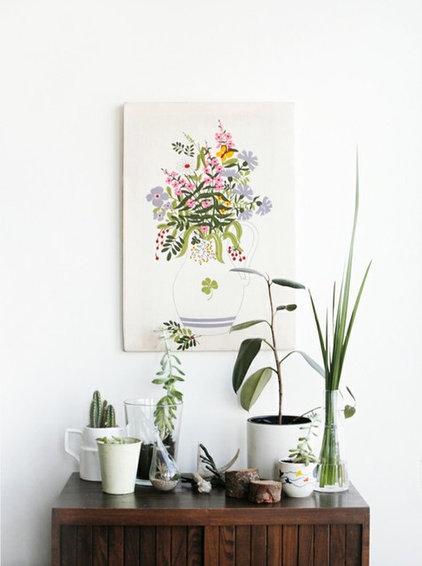 Eclectic Living Room indoor garden