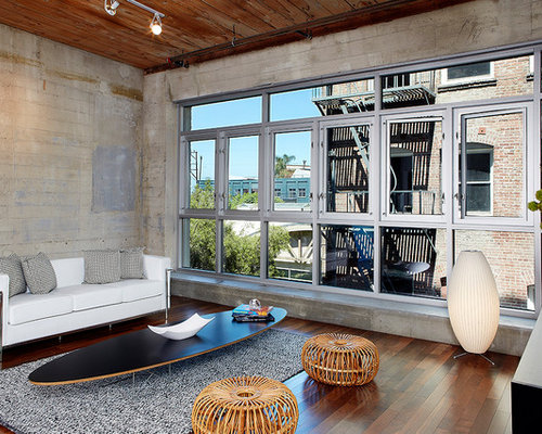 Industrial Living Room Design Ideas Remodels Photos Houzz