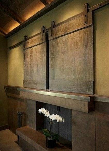 Industrial Living Room by Specialty Doors