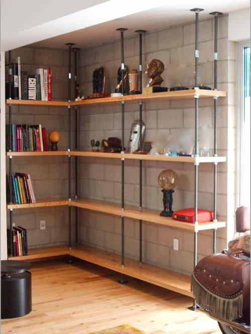 SaveEmail - Reclaimed Wood Bookcase Houzz