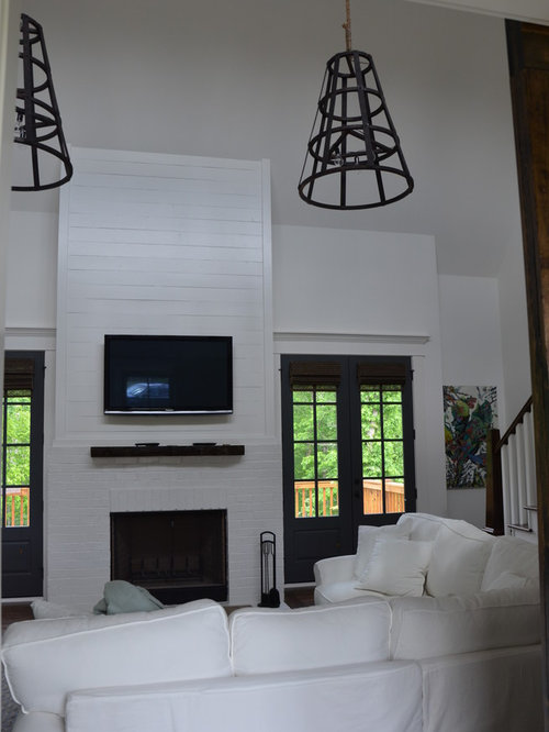 Houzz Cottage Living Room: Industrial Cottage Home Design Ideas, Pictures, Remodel