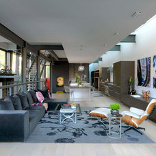 Contemporary Living Room by PROjECT. interiors + Aimee Wertepny