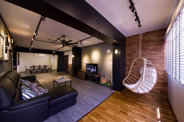 Contemporary Living Room by Edge Interior Pte Ltd