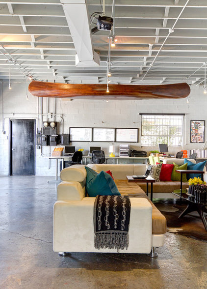 Industrial Living Room by A.S.D. Interiors - Shirry Dolgin, Owner