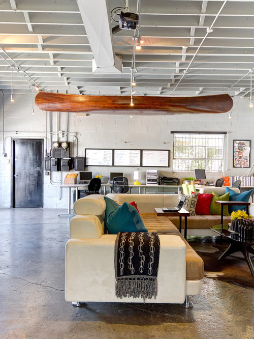 Hanging canoe houzz - Decoration loft industriel ...