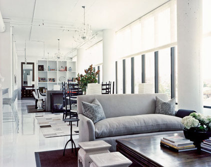 modern living room by Andrew Flesher Interiors