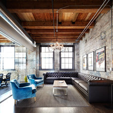 Industrial Living Room by Lisa Petrole Photography