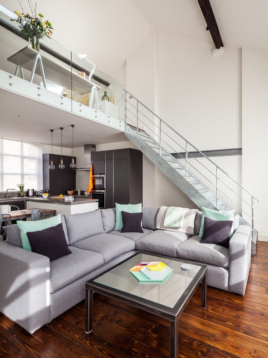 Industrial Chic Living Room Design Ideas Remodels Photos Houzz