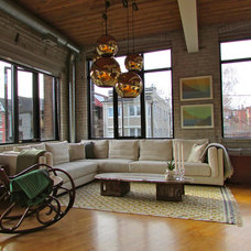 Industrial Living Room by Jenn Hannotte / Hannotte Interiors