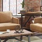 Houston Loft Industrial Living Room Houston By