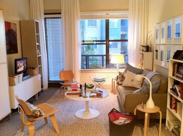 Contemporary Living Room by Claire Watkins Interior Design, LLC