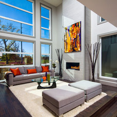 Contemporary Living Room by Prominent Homes Ltd