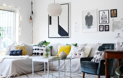 Trendspaning: Känn grön kärlek och inred med stora blad i vita hem