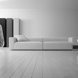 Insieme Sofa and Sectional - Please contact IQmatics at 847.885.3600 for more information. Made in Italy. Finishes in various fabric and leather.