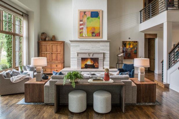 トランジショナル リビング by Allard + Roberts Interior Design, Inc