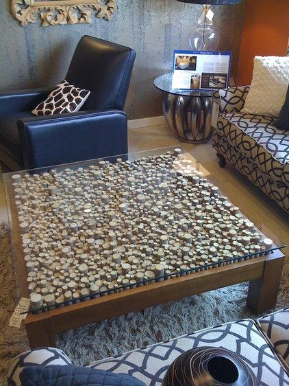 Asian Living Room by Kohler Jones custom furniture and design