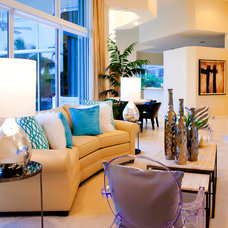 Contemporary Living Room by Inspired Interiors by Wendi, IIDA