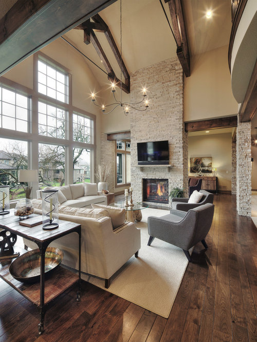 Rustic Living Room Ideas & Design Photos | Houzz