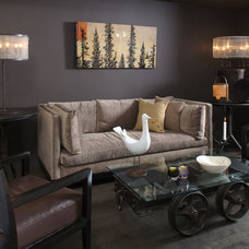 Eclectic Living Room by interieurs by Francine Gardner