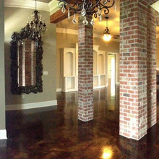 Traditional Living Room by Dan Lynch Concrete Floors