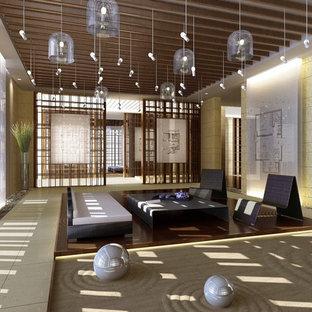 zen living room ideas. Living Room - Large Open Concept And Formal Ceramic Floor Idea In Other With Zen Ideas