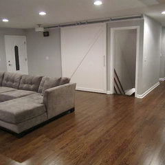 contemporary living room Interior Barn Door