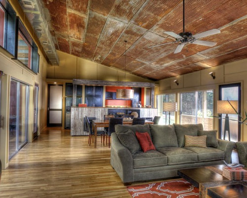 Industrial ceiling fan oil rubbed bronze home design for Ceiling mural ideas