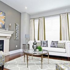 Eclectic Living Room by ALANKAR DECOR INC