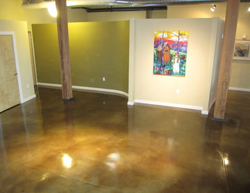 Interior Concrete Floor: Concrete Staining