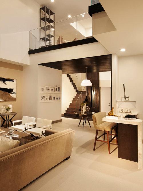 Duplex interior houzz for Small apartment interior design houzz