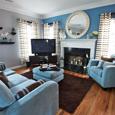 Contemporary Living Room by Signature Spaces, LLC