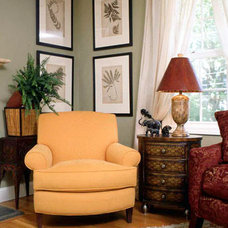 Traditional Living Room by Camille Garro Interiors