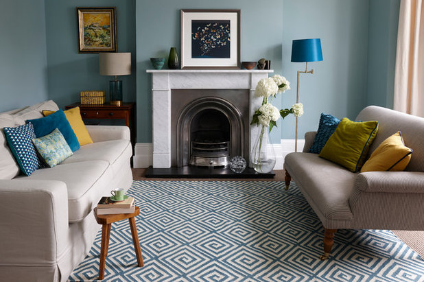 Contemporary Living Room by Jennifer Manners Bespoke Rugs
