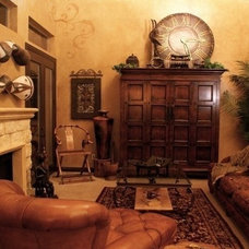 Mediterranean Living Room by Ultimate Artworks and Faux Finishing Studio
