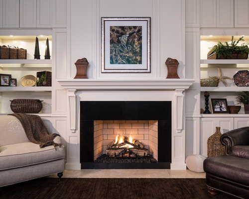 Built In Bookcase Fireplace Mantle Home Design Ideas
