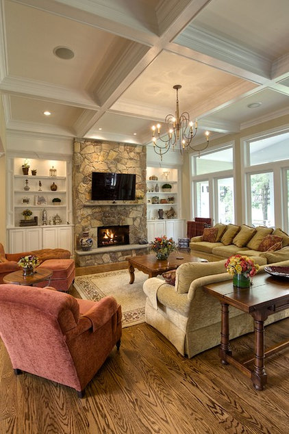 Traditional Living Room by Oak Hill Building & Remodeling