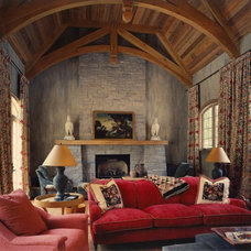 Traditional Living Room by KohlMark Architects and Builders