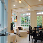 Coffered Ceilings Contemporary Living Room