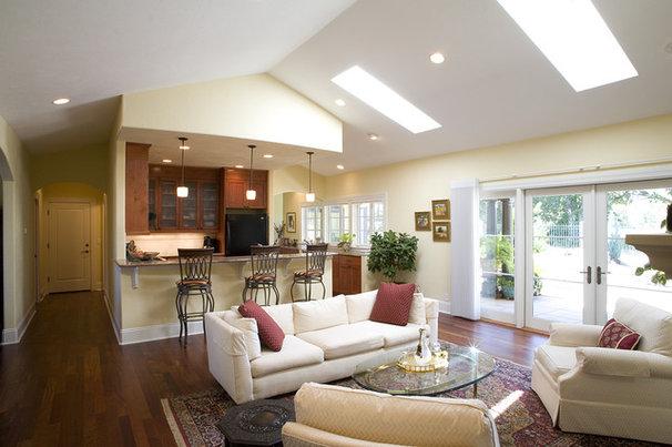 Mediterranean Living Room by Paul Moon Design