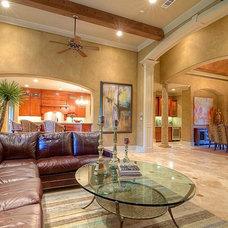 Mediterranean Living Room by Gabay Custom Builders, INC