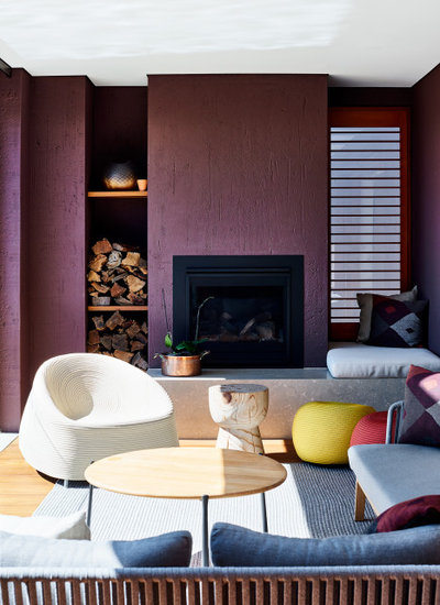 Contemporary Living Room by Creative Wall Solutions