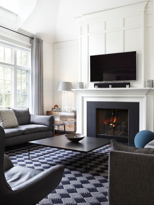 Transitional Living Room Wall Decor: Honed Slate Ideas, Pictures, Remodel And Decor