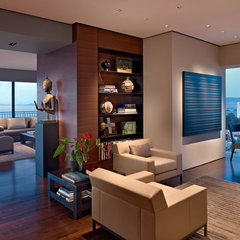 modern living room by Zack|de Vito Architecture + Construction