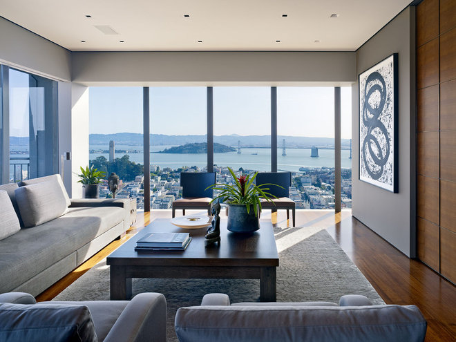 contemporary living room by Zack|de Vito Architecture + Construction