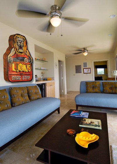 Contemporary Living Room by Route 66 Relics