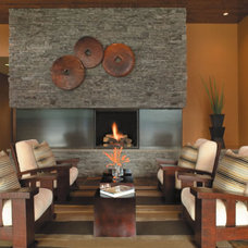 Contemporary Living Room by Thorntree Slate