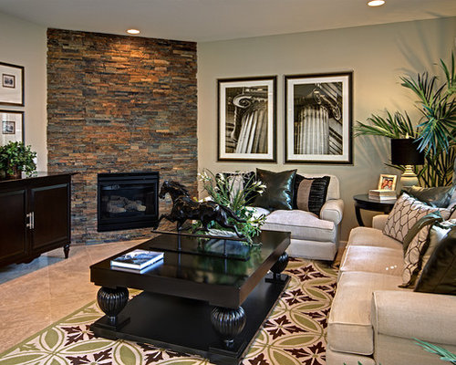 Stone Corner Fireplace Houzz