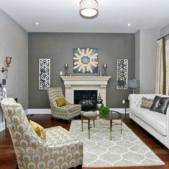 eclectic living room by ALANKAR DECOR INC
