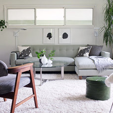 Midcentury Family Room by christina loucks designs + styling