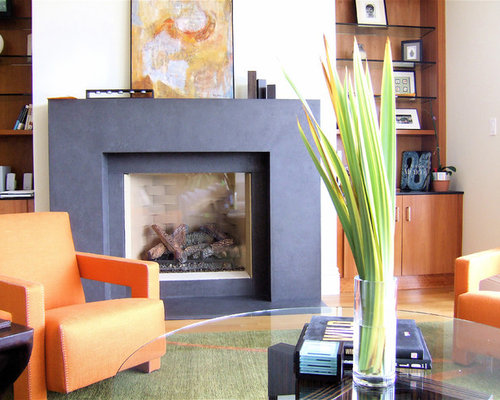 Contemporary Fireplace Surround | Houzz